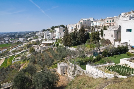 Panoramic view of Cisternino  Puglia  Italy  photo