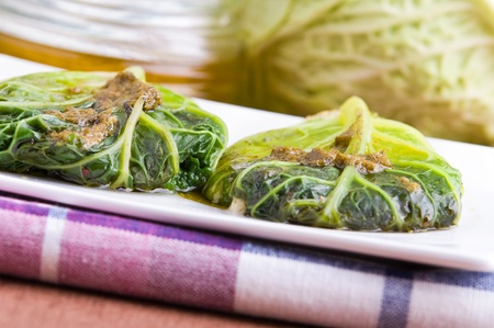 savoy: Savoy cabbage roulades  Stock Photo