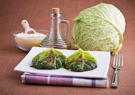 Savoy cabbage roulades  photo