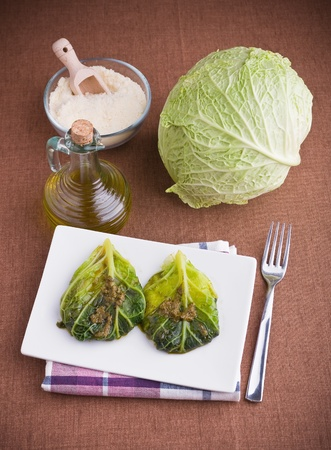 Savoy cabbage roulades  photo
