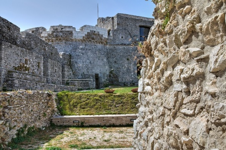 monte sant angelo: Castle of Monte Santangelo  Puglia  Italy  Stock Photo