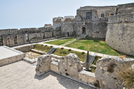 monte sant'angelo: Castle of Monte Santangelo  Puglia  Italy  Stock Photo