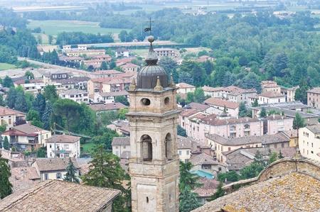 Panoramic view of Castellarquato  Emilia-Romagna  Italy  Stock Photo - 13145518