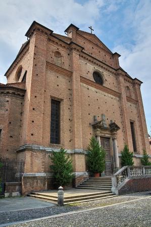 piacenza: Iglesia del Santo Sepulcro. Piacenza. Emilia-Roma�a. Italia. Foto de archivo