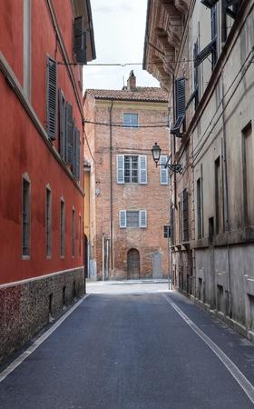 piacenza: Alleyway. Piacenza. Emilia-Romagna. Italy. Stock Photo