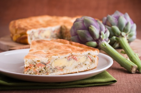 Artichoke Pie. photo