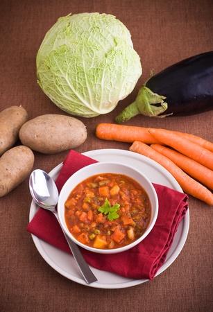 Vegetable soup. photo