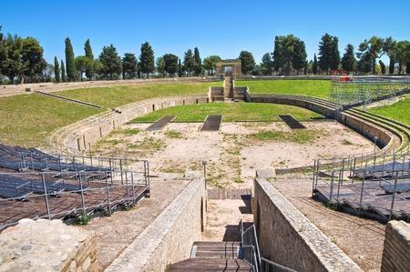 Amphitheatre of Lucera. Puglia. Italy. Stock Photo - 13392445