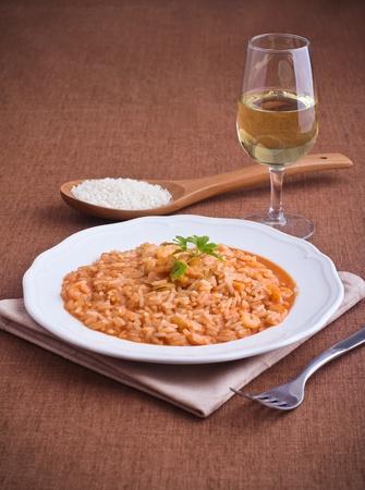 Shrimp risotto Imagens - 13392462