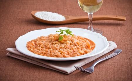 Shrimp risotto   photo