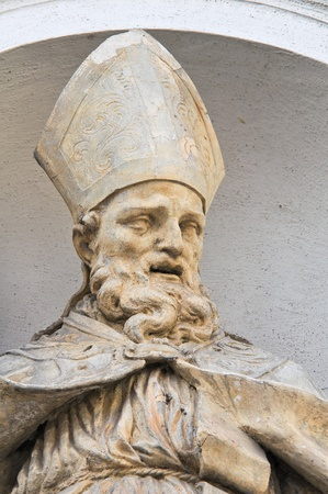 Marble statue. St. Lucia Church. Parma. Emilia-Romagna. Italy. Stock Photo - 13569552