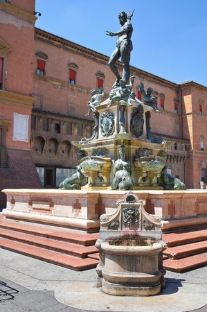 Fountain of Neptune  Bologna  Emilia-Romagna  Italy  photo