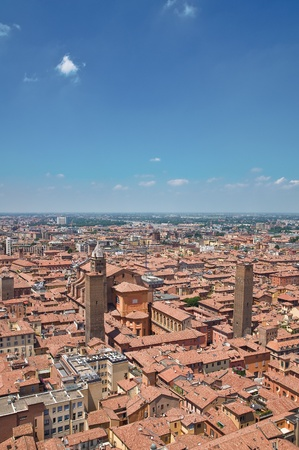 rooftile: Panoramic view of Bologna  Emilia-Romagna  Italy