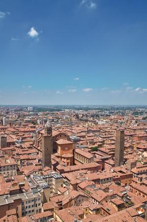 urbanistic: Panoramic view of Bologna  Emilia-Romagna  Italy