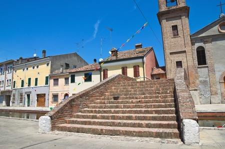 carmine: Carmine ponte. Comacchio. Emilia-Romagna. Italia.