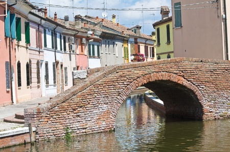 Sisti Bridge  Comacchio  Emilia-Romagna  Italy
