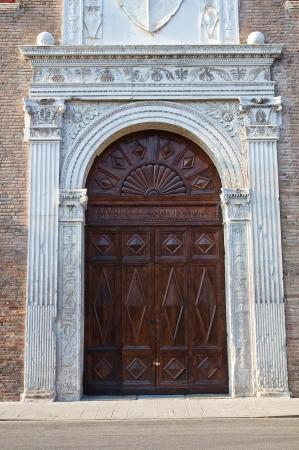 wood panelled: Schifanoia Palace. Ferrara. Emilia-Romagna. Italy. Stock Photo