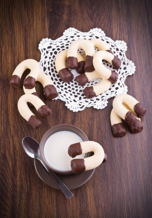 Horseshoe cookies. photo