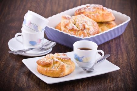 Breakfast with brioches  photo