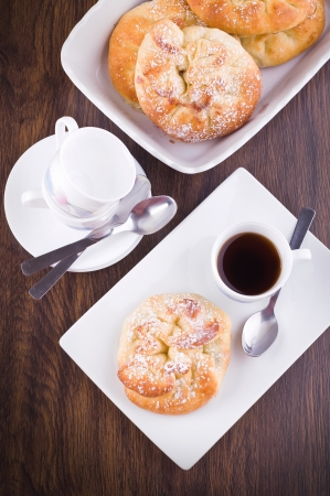 Breakfast with brioches  photo