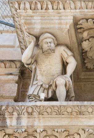 telamon: Santa Croce Basilica  Lecce  Puglia  Italy