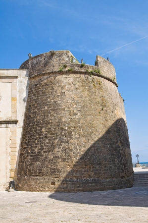fortified: Fortified walls. Otranto. Puglia. Italy.