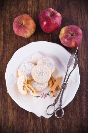 Apple filled cookies. photo