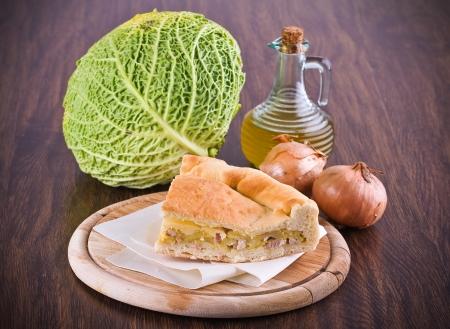savoy cabbage: Savoy cabbage calzone.