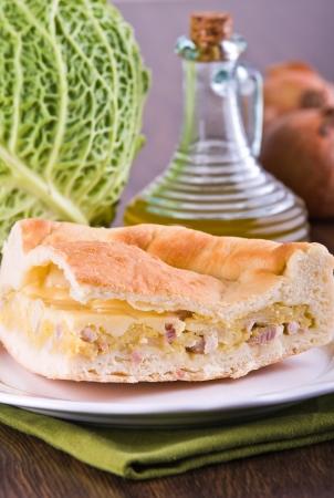 Savoy cabbage calzone. photo