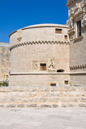 De Monti Castle of Corigliano di Otranto  Puglia  Italy  Stock Photo - 14141309