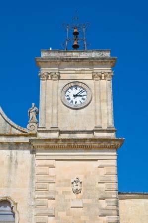 clocktower: Clocktower  Melpignano  Puglia  Italy  Stock Photo