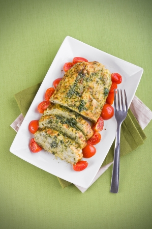 Vegetable meatloaf.  Stock Photo - 14027340