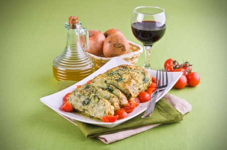 Vegetable meatloaf. Stock Photo - 14038262