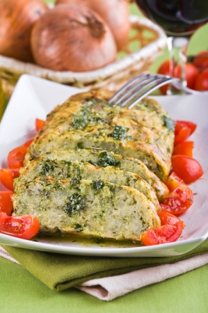 Vegetable meatloaf.  photo
