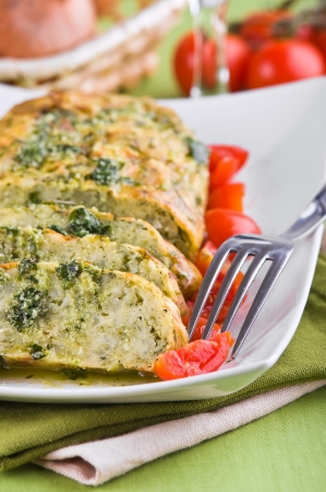 Vegetable meatloaf.  Stock Photo - 14027343