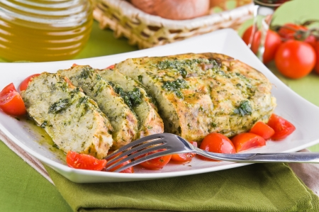 Vegetable meatloaf.  Stock Photo - 14038264