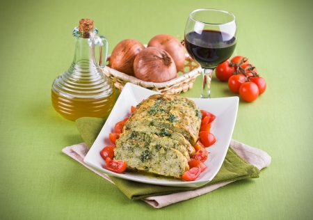 Vegetable meatloaf. Stock Photo - 14027418