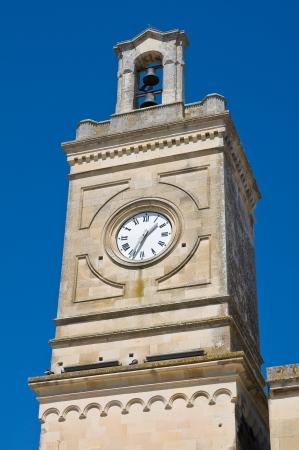 clocktower: Clocktower  Castrignano dei Greci  Puglia  Italy  Stock Photo