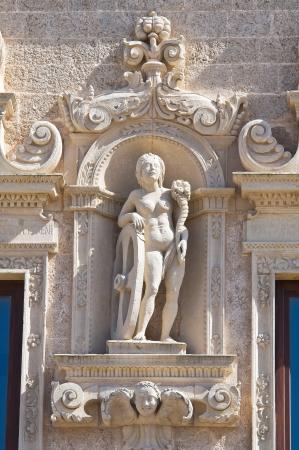 monti: De Monti Castle of Corigliano di Otranto  Puglia  Italy  Stock Photo