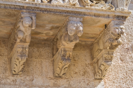 monti: De Monti Castle of Corigliano di Otranto  Puglia  Italy  Editorial