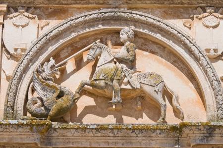 puglia: Mother Church of St  Giorgio  Melpignano  Puglia  Italy  Stock Photo
