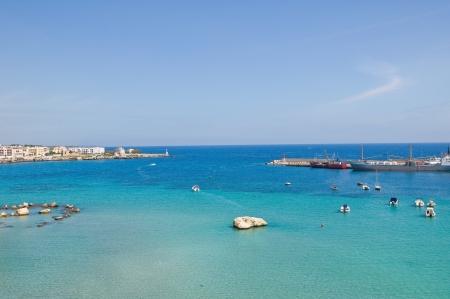 architectural architectonic: Panoramic view of Otranto. Puglia. Italy.