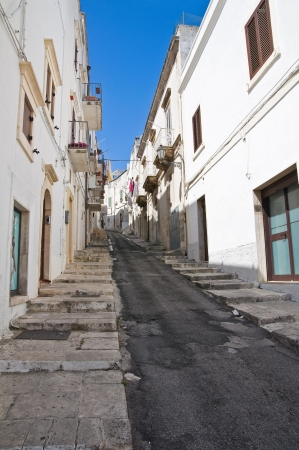 Alleyway. Ostuni. Puglia. Italy. photo