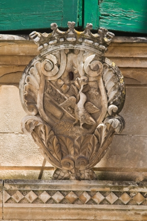 Coat of arms  Ostuni  Puglia  Italy  photo