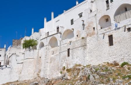 fortified: Fortified walls  Ostuni  Puglia  Italy  Stock Photo