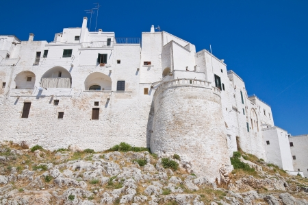 fortified: Fortified walls  Ostuni  Puglia  Italy  Stock Photo