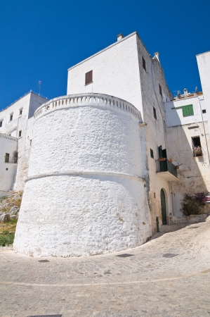 Fortified walls  Ostuni  Puglia  Italy  photo