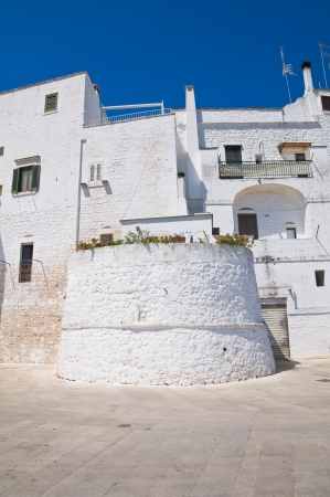 Fortified walls. Ostuni. Puglia. Italy. photo