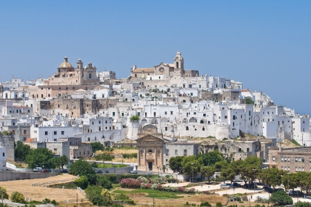 architectural architectonic: Panoramic view of Ostuni. Puglia. Italy.