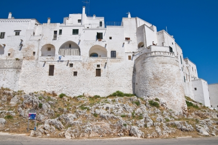 fortified: Fortified walls. Ostuni. Puglia. Italy.